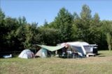 Pitch - Large Pitch: >1300ft², vehicle, electricity (10A) - Camping Les Rives du Lac