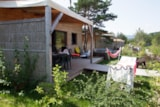 Rental - Chalet Luxe: 2 Bedrooms, 2 Bathrooms + Wc, Kitchen. Jacuzzi,  Barbecue Set, Speaker - Camping Les Rives du Lac