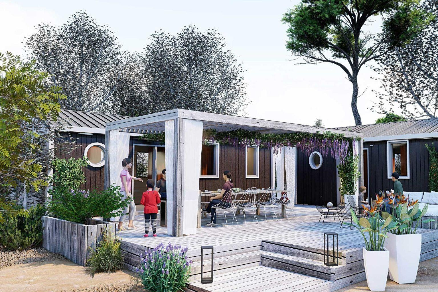 Location - Cottage Friends 5 Chambres **** - Camping Sandaya Riviera d'Azur