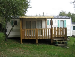 Rental - Mobile Home with toilet block+terrace 28m² - CAMPING LE CAMINEL