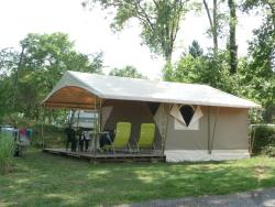 Huuraccommodaties - Canadese bungalow tent - 32m² - 2 slaapkamers - CAMPING LA FAGE