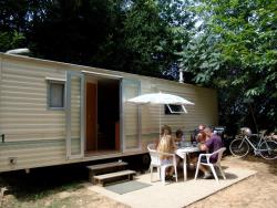 Rental - Mobilhome (3 x 7.60 m) with paved terrace - Camping du Domaine de Maillac