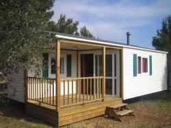 Rental - Mobilhome Loggia : (4 x 7.50 m) + covered wooden terrace - Camping du Domaine de Maillac