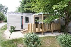 Accommodation - Mobil Home Luxe 27M² 4 Pers. - 2 Bedrooms - Semi-Covered Terrace + Dishwasher + Tv - Camping Le Perpetuum