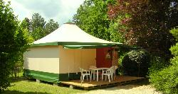 Rental - Canvas bungalow 2 Rooms 25m² without toilet block - Camping Lou Castel