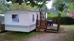 Huuraccommodaties - Stacaravan Fauvette 26m² + terrass - Camping le Pigeonnier