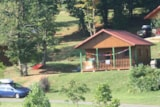 Rental - Chalet Bocage 35M² / 2 Bedrooms - 10M² Sheltered Terrace - CAMPING LES VALADES