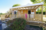 Rental - New 2016 : Sunny Lodge 34m² / 2 bedrooms - 22m² sheltered terrace + 15m² solarium - CAMPING LES VALADES