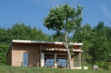 Rental - Chalet Premium 34m² / 2 bedrooms - 12m² sheltered terrace+Air conditioning - CAMPING LES VALADES