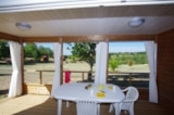 Rental - New 2016 : Chalet Premium 34m² / 2 bedrooms - 12m² sheltered terrace - CAMPING LES VALADES