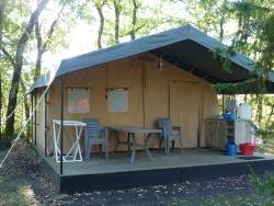 Rental - Large Canvas Bungalow (without bathroom) 5 people - CAMPING LA LENOTTE