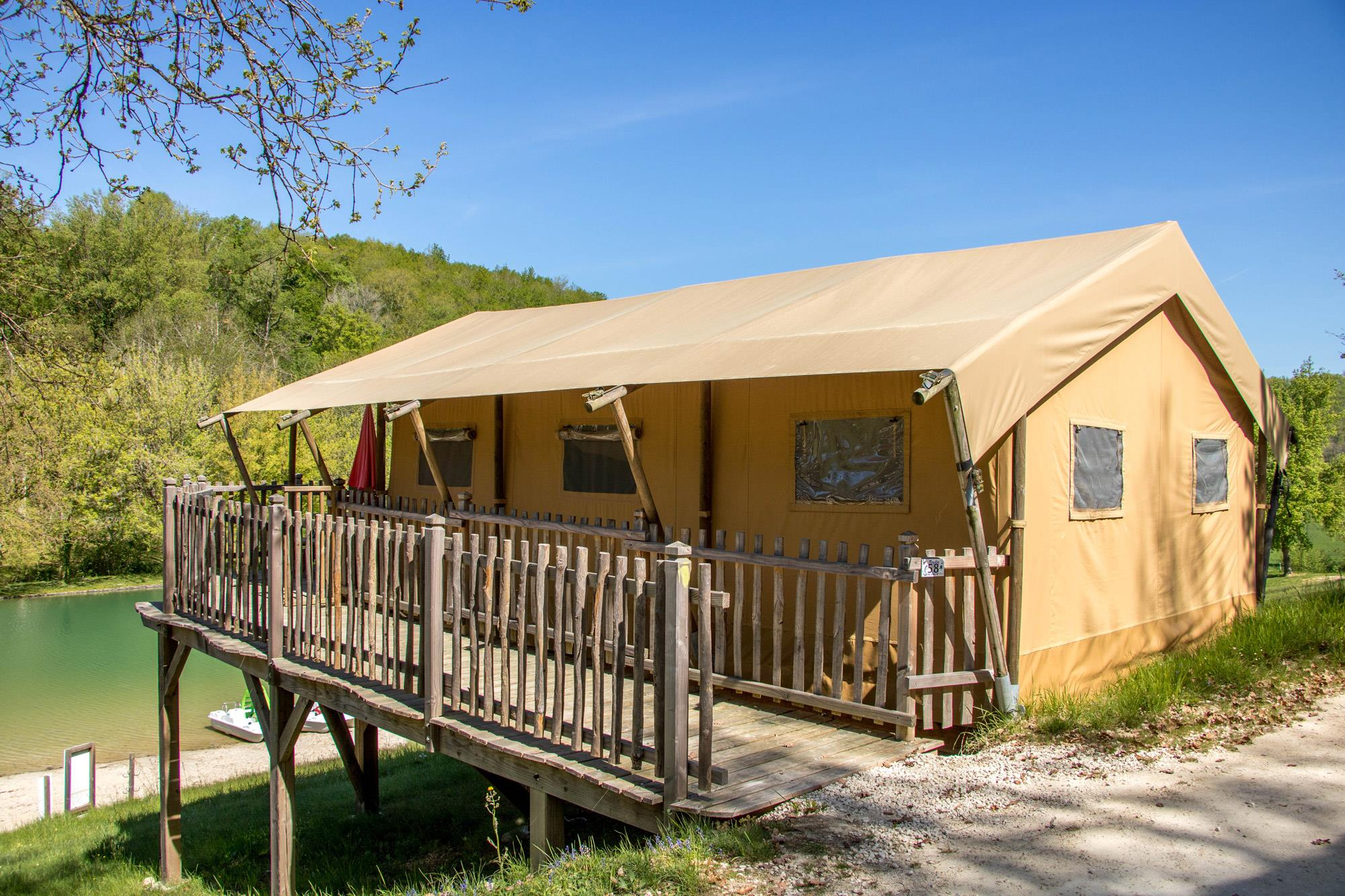 Location - Tente Safari - Camping Village le Moulin de Surier