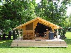 Rental - TENT LODGE - river view - Camping Le Port de Limeuil