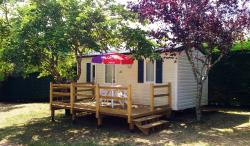 Rental - Standard 2 adults / 2 children 18m² 2 bedrooms (with terrace) - Camping La Nouvelle Croze