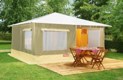 Rental - CANVAS BUNGALOW 20m2  2 Bedrooms 5 People Rental from Saturday to Saturday - Camping L'Offrerie