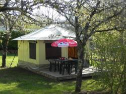 Rental - CANVAS BUNGALOW 16m2  2 Bedrooms 4 People Rental from Sunday to Sunday in July and August - Camping L'Offrerie