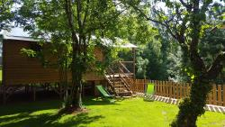 Rental - Wooden cabin Lodge perched 39m² 2 bedrooms 5 people - Rental from Saturday to Saturday in July and August. - Camping L'Offrerie