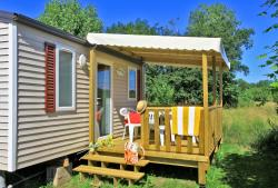 Rental - Mobilhome O'Hara, Toilet, Shower, 2 bedrooms, sittingroom, kitchen, covered terrace - Le Plein Air des Bories