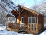 Rental - Chalet Grand Confort Type Modulo 24 - 24 M² / 2 Bedrooms - Sheltered Terrace 15 M² - Camping-Caravaneige l'Iscle de Prelles