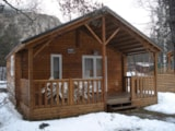 Rental - Chalet Grand Confort Type Modulo 28 - 28 M² / 2  Bedrooms - Sheltered Terrace 15 M² - Camping-Caravaneige l'Iscle de Prelles