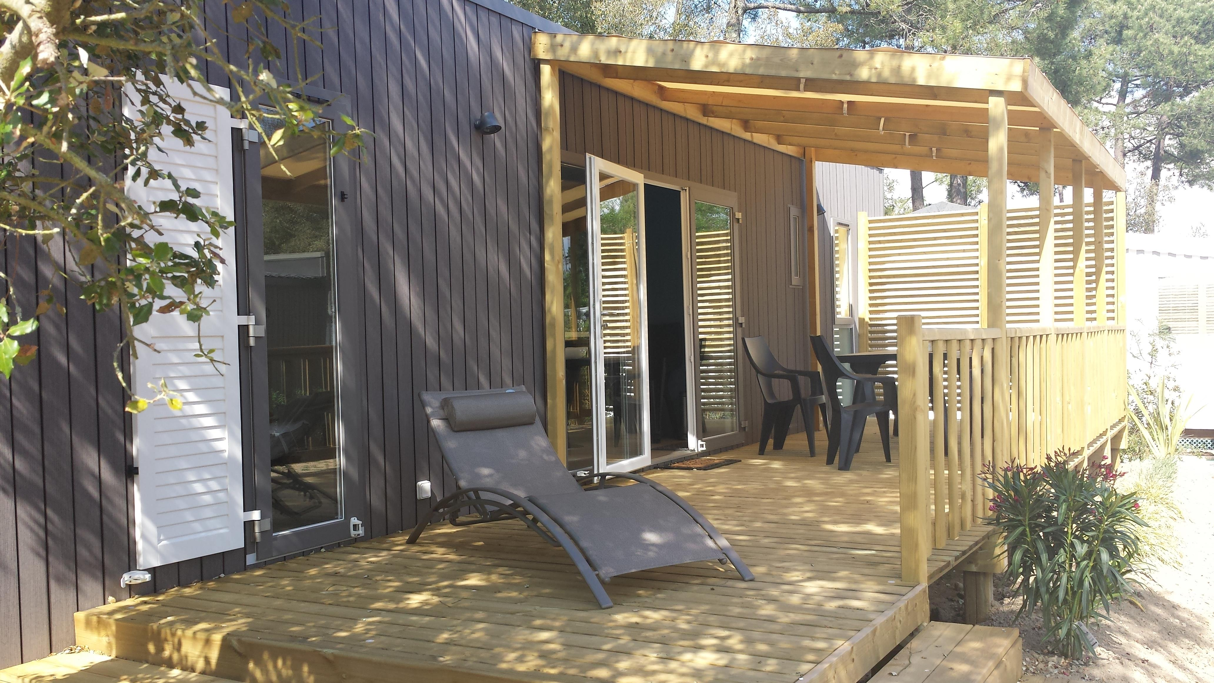 Location - Vip 3 Chambres 38M² - Pack-Vip Inclus (Linge,Tv,Wifi...) - Camping LES GENETS