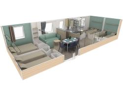 Mobil-Home (4 bedrooms) per night