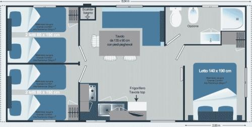 New Mobil Home 3 camere