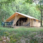 Rental - Tent Cotton Confort with private facilities - Camping Sites et Paysages Les Pastourels
