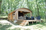 Rental - Our new accommodation: canvas and wood tent. - Camping Sites et Paysages LES PASTOURELS