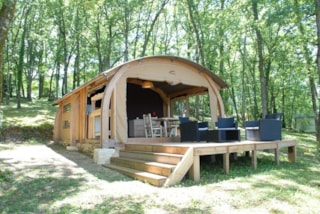 Large Tent Canvas And Wood, Bathroom, Breathtaking Views Of The Dordogne Valley