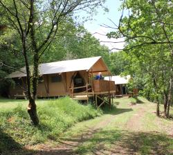 Huuraccommodatie - Large  Tent With Sanitary , 50 M², 3 Bedrooms - Sites Et Paysages Les Pastourels