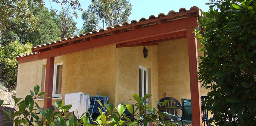 Location - Gîte Bastidon - 2 Chambres / Terrasse Couverte - Camping Les Philippons