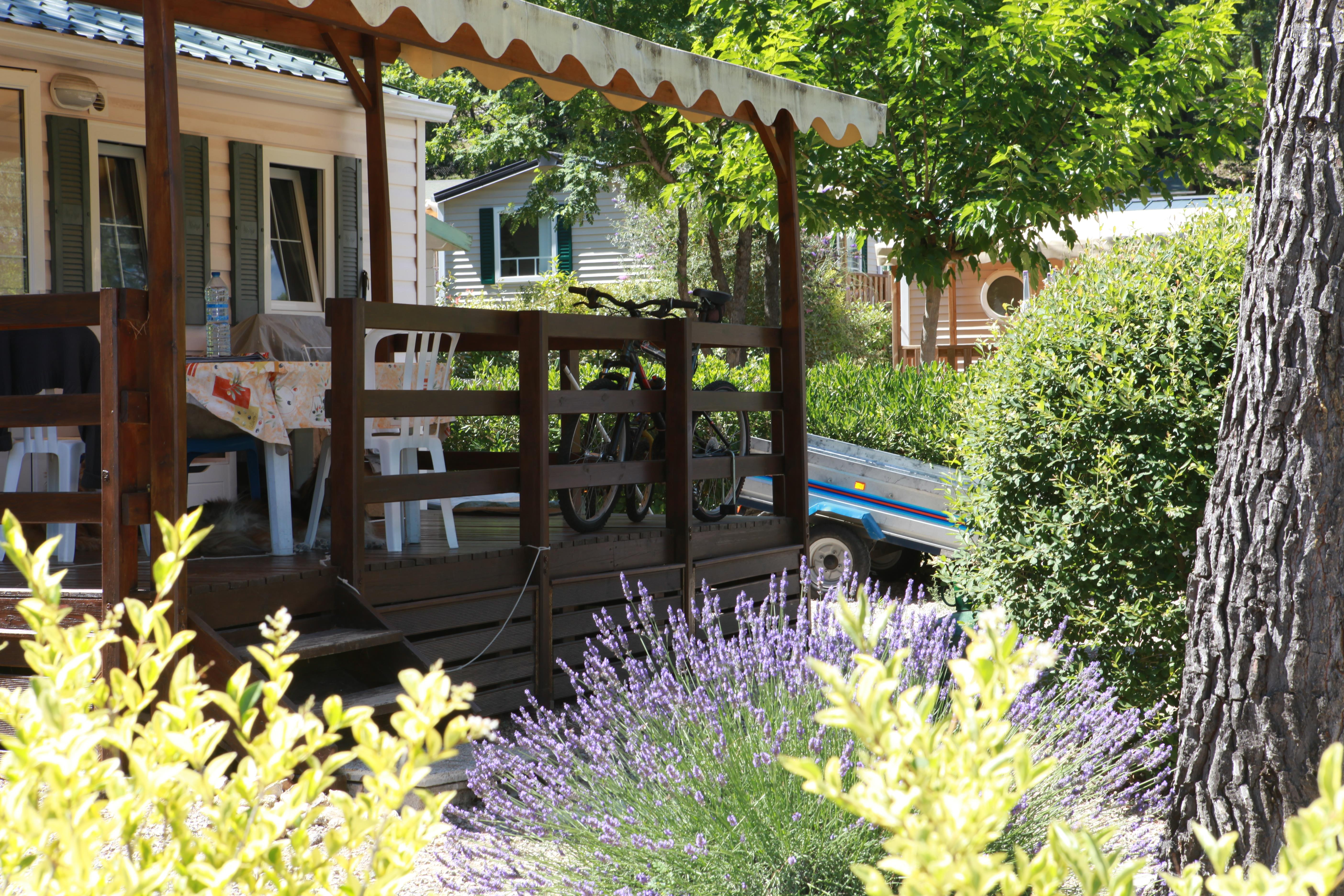 Location - Mobilhome Standard 3 Chambres Climatisé - Camping Les Blimouses