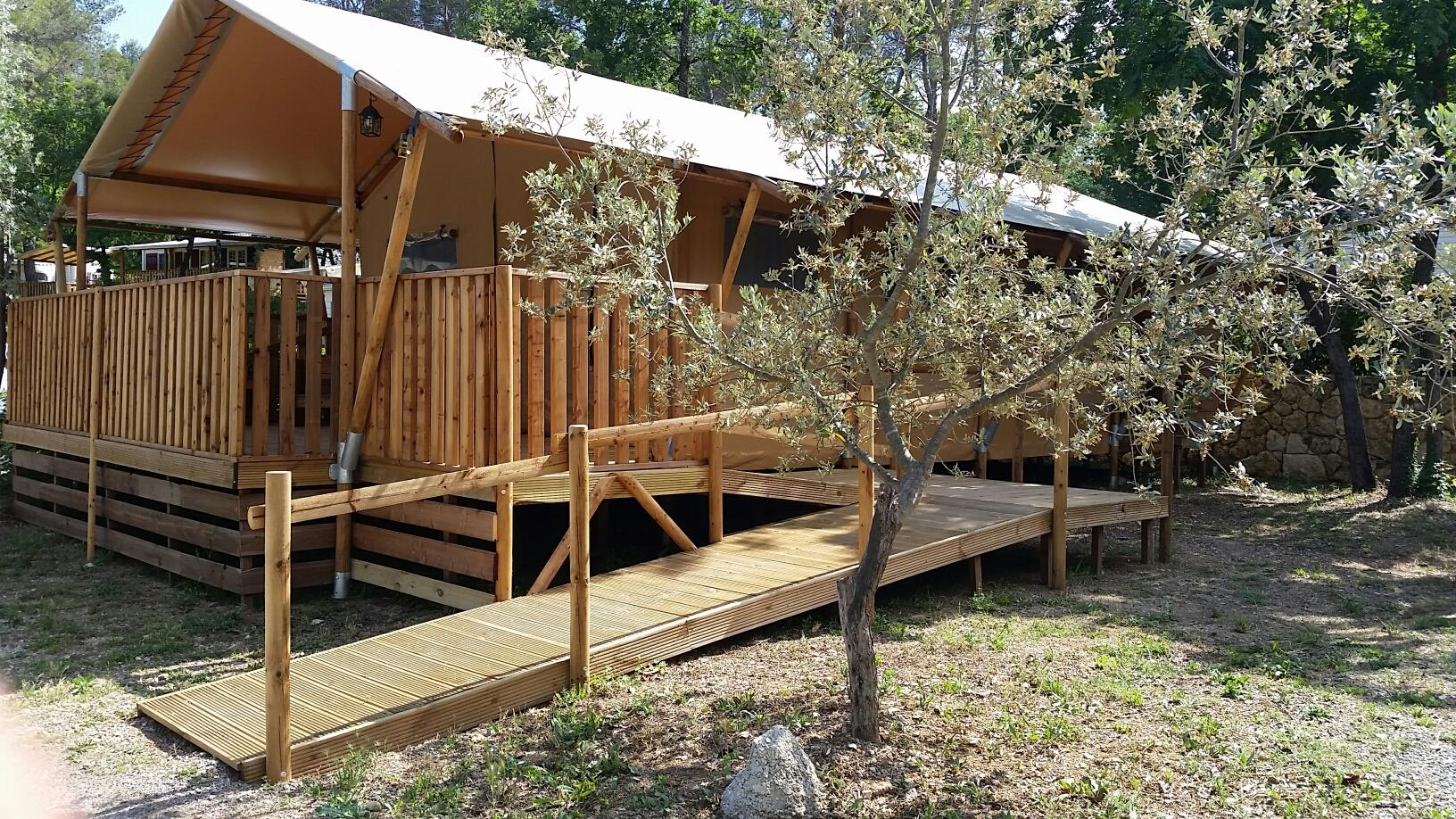 Location - Tente Lodge 2 Chambres  ( Avec Sdb) - Camping Les Blimouses