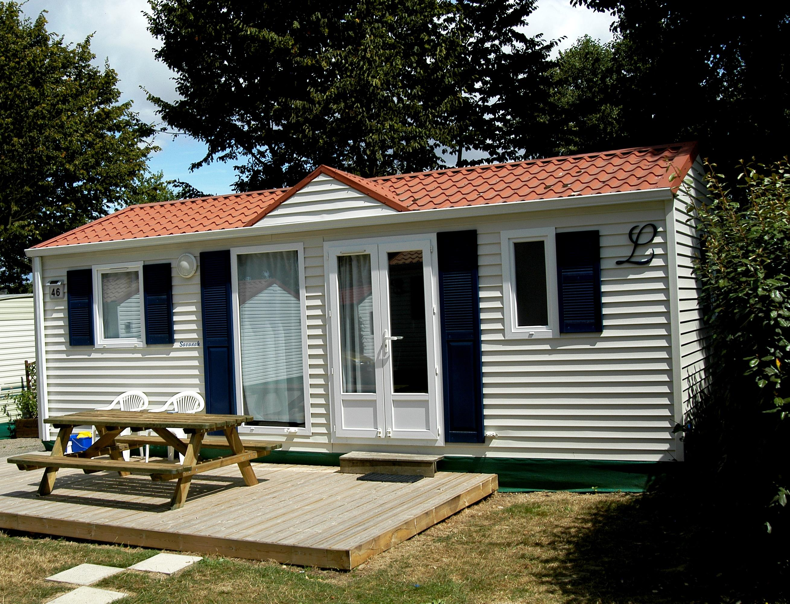Location - Mobil-Home Sloop Eco 2 Chambres 26M² - Camping Le Patisseau