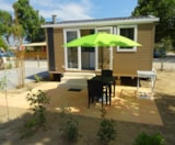 Rental - Mobil-Home Gaïa 2 Pers. Walking Zone + Place Per 1 Vehicle At The Entrance Parking - Camping Domaine du Golfe de Saint Tropez