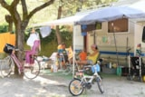 Pitch - SUPERPLATZ with electricity connection 10A + water loading - Camping Mare e Pineta
