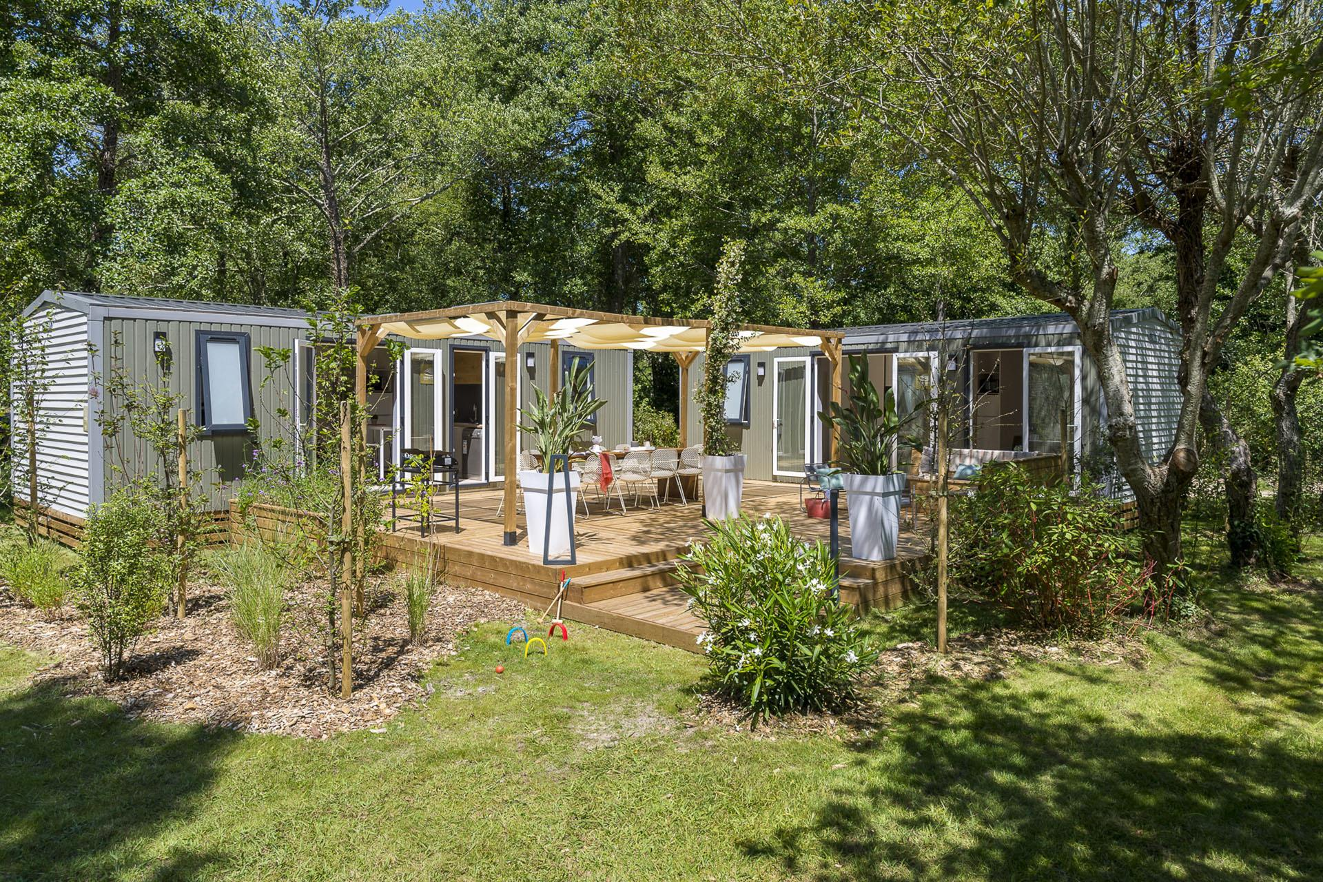 Location - Cottage Friends 5 Chambres **** - Camping Sandaya Le Col Vert