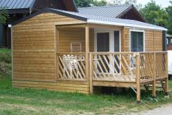 Accommodation - Chalet Mobile Home Loggia 2, 4 Personnes + Bébé - Camping du Col