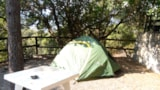 Pitch - Pitch (small tent )+ car in the parking.Terraced campsite. - Camping La Pineta