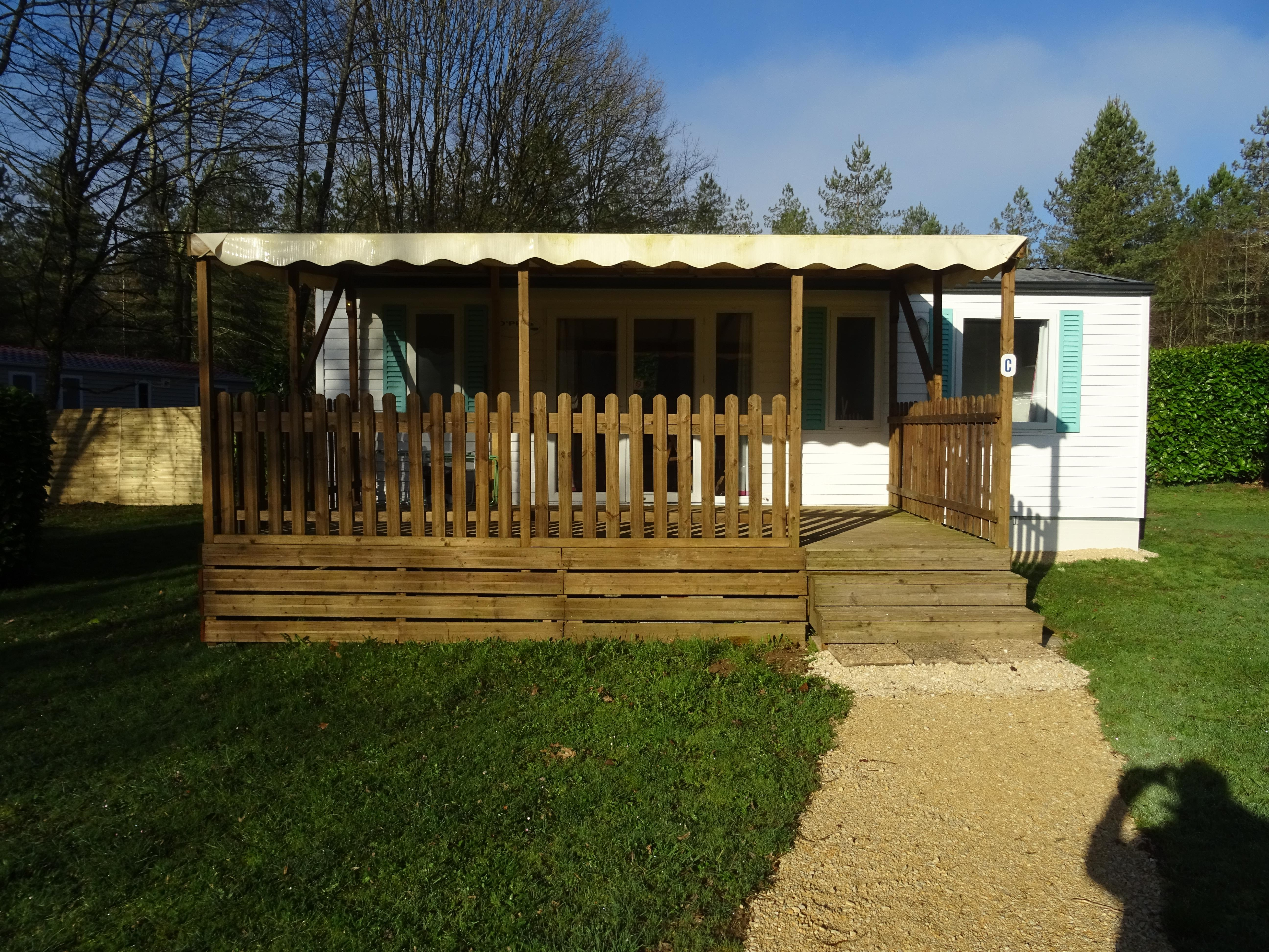 Location - Mobil Home O'hara  T 834 - 3 Chambres - Camping Le Bois du Coderc