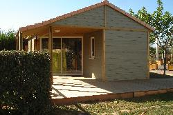 Huuraccommodaties - Chalet Fabre 34m² - Camping Le Paradou