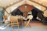 Rental - Canvas bungalow 2 bedrooms 30m² - Camping Le Haras