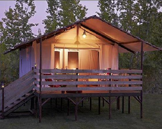Cabane Lodge on piles CONFORT 34 sqm (2 bedrooms) - sheltered terrace - without private facilities