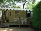 Rental - Mobilhome la Favière - sheltered terrace Max 2 adults - Camping Lou Cabasson