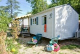 Rental - Mobilhome le Brégançon - sheltered terrace 10m² (air-conditioning) - Camping Lou Cabasson