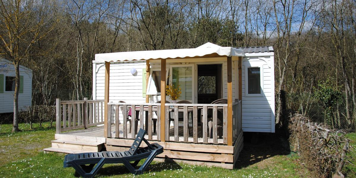 Rental - Mobilhome Eco 23M² - 1 Bedroom - Flower Camping de la Forêt