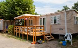Mobilhome Visio - 3 Bedrooms: 1 Bedroom With Double Bed, 2 Bedrooms With Bunk Beds.