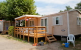 Rental - Mobilhome Visio - 3 Bedrooms: 1 Bedroom With Double Bed, 2 Bedrooms With Bunk Beds. - Camping Le Colombier