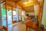 Rental - 2 bedroom Espace wooden Chalet with air conditioning - Camping Sites et Paysages LE MOULIN